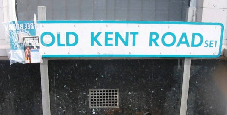 Old Kent Road sign outside The Dun Cow - wikicommons - general or 4.4